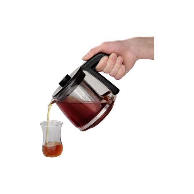 9100036102 Tea Expert Deluxe Inox Çay Makinesi - Cam Demlikli