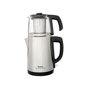 Tea Expert Deluxe Inox Çay Makinesi - Cam Demlikli