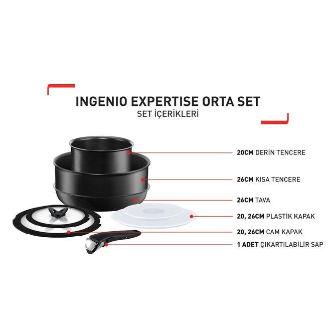 2100103639 Titanium Ingenio Expertise Orta Tava ve Tencere Seti - 8 Parça