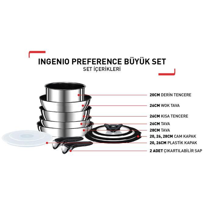 2100106896 Titanium Ingenio Preference Büyük Tava ve Tencere Seti - 12 Parça