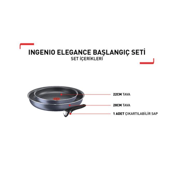 Tefal 2100110340 Ingenio Titanium Elegance Tanışma Tava Seti - 3 Parça