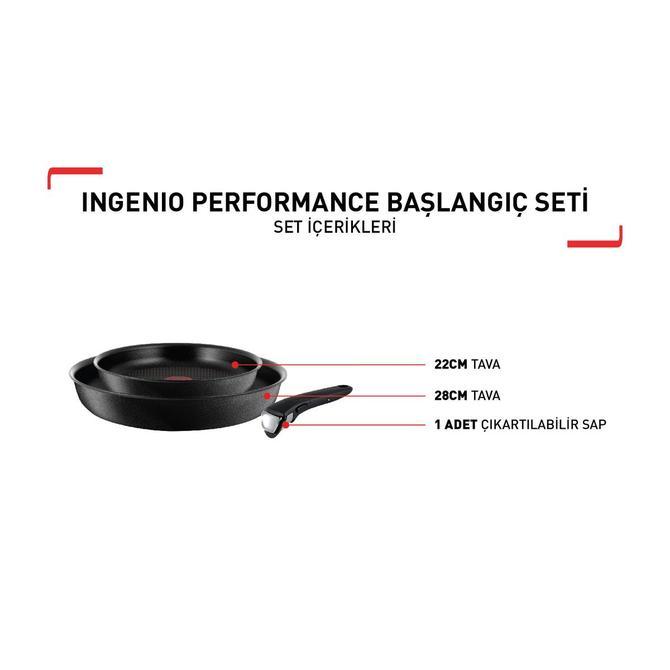 Tefal 2100111219 Ingenio Titanium Performance Tanışma Tava Seti - 3 Parça