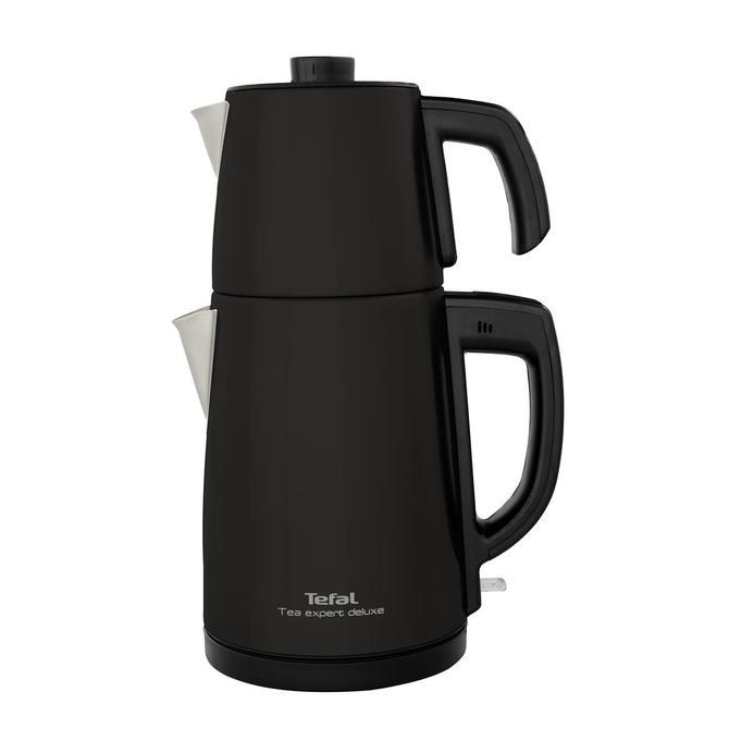 9100036101 Tea Expert Deluxe Siyah Çay Makinesi - Çelik Demlikli