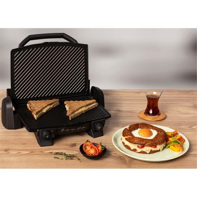 Tefal 9100039379 Toast Expert Siyah Elektrikli Izgara ve Tost Makinesi