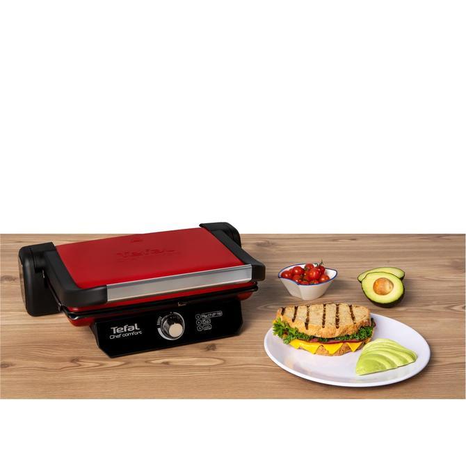 9100040086 Chef Comfort Kırmızı Tost Makinesi