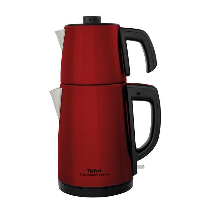 9100036098 Tea Expert Deluxe Kırmızı Çay Makinesi - Çelik Demlikli