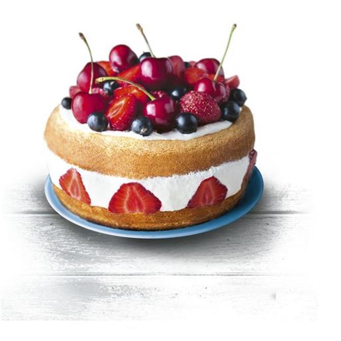 2100110063 ColorEdition Kelepçeli Kek Kalıbı Mavi - 27 cm