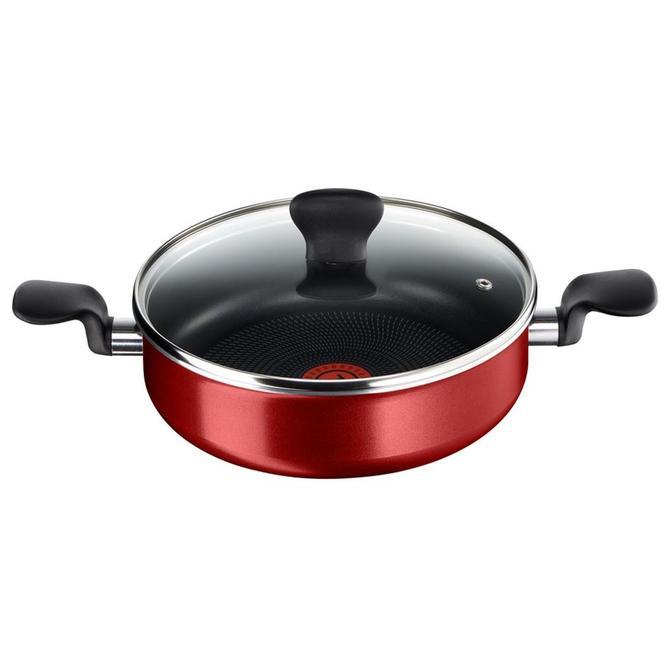 2100101261 Cook Right Kırmızı Kısa Tencere - 26 cm