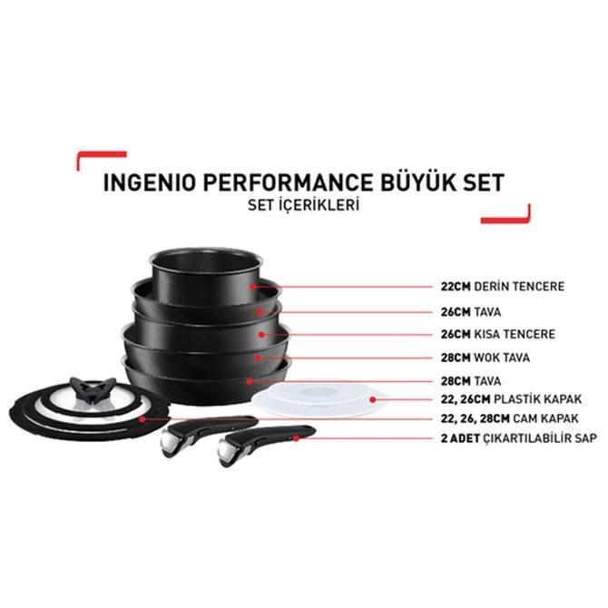 Tefal 2100098552 Ingenio Titanium Performance Büyük Set 12 Parça