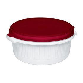 Micro Family Yuvarlak Plastik Saklama Kabı Kırmızı - 1.5 L