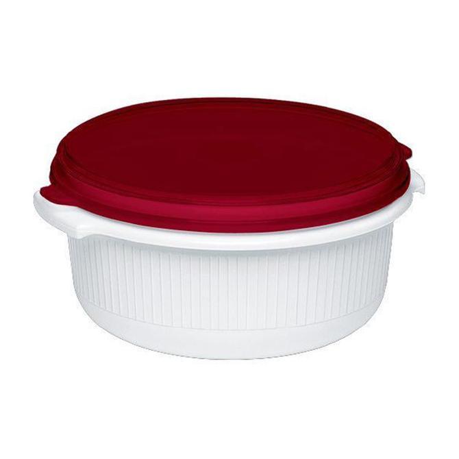 3100518258 Micro Family Yuvarlak Plastik Saklama Kabı Kırmızı - 1.5 L