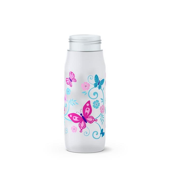 3100518806 Squeeze Plastik Şişe Beyaz Kelebek Squeeze Bottle Butterfly  0,6L