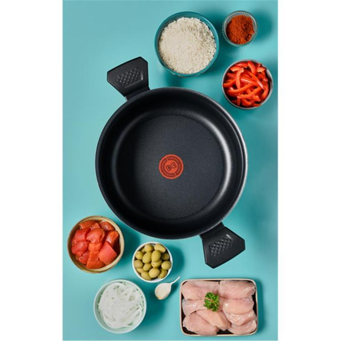 2100118960 Titanyum 1X Extra Cook&Clean Difüzyon Tabanlı Kısa Tencere - 28 cm