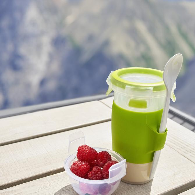 3110600389 Masterseal To Go Kaşıklı Yogurt Kabı