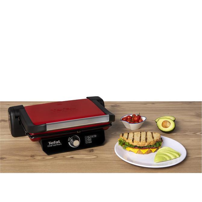 Tefal 9100040086 Chef Comfort Kırmızı Tost Makinesi