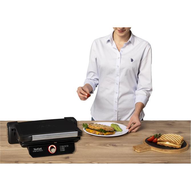 Tefal 9100040087 Chef Comfort Siyah Tost Makinesi