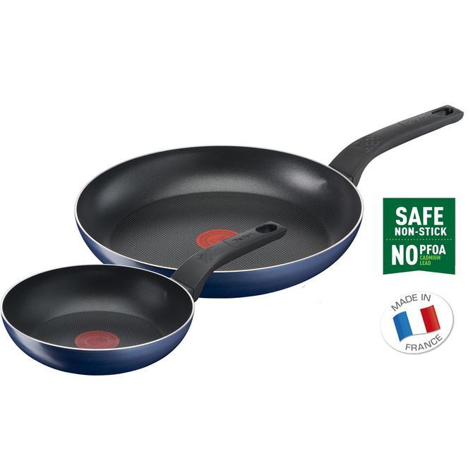 Tefal 2100123947 Titanyum 1X Easy Cook&Clean Difüzyon Tabanlı İkili Tava Seti - 20+28 cm