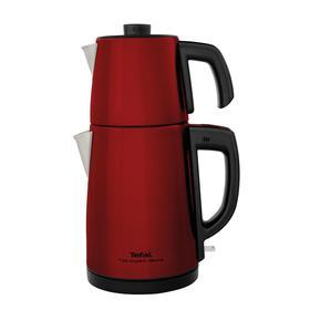 Tea Expert Deluxe Kırmızı Çay Makinesi - Çelik Demlikli